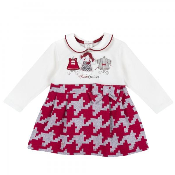 Φορεματάκι βρεφικό κόκκινο λευκό από την Chicco
