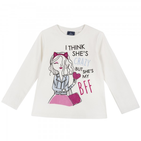 Μπλούζα για κορίτσι λευκή BFF από την Chicco