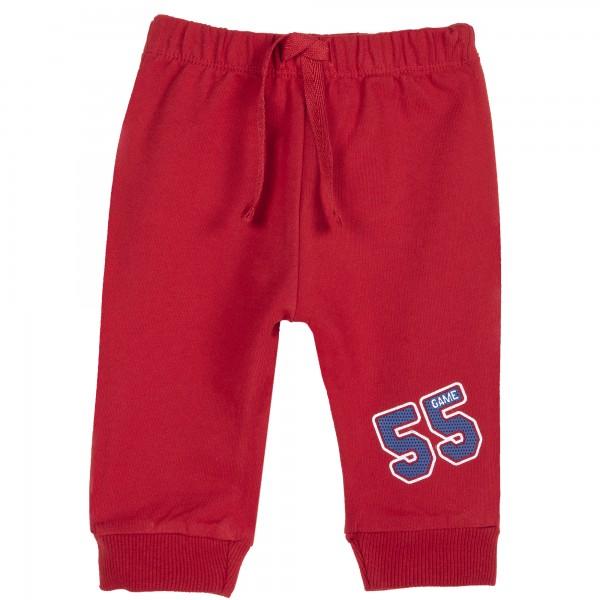 Παντελόνι φόρμας αγορίστικο κόκκινο με στάμπα από την Chicco