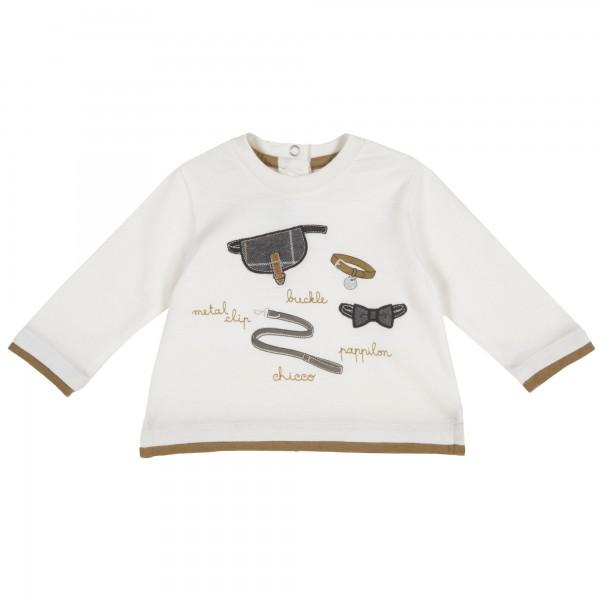 Βρεφικό μπλουζάκι αγορίστικο λευκό από την Chicco