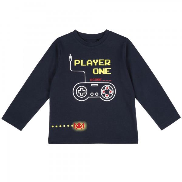 Μπλουζάκι παιδικό αγορίστικο μπλε σκούρο με στάμπα από την Chicco