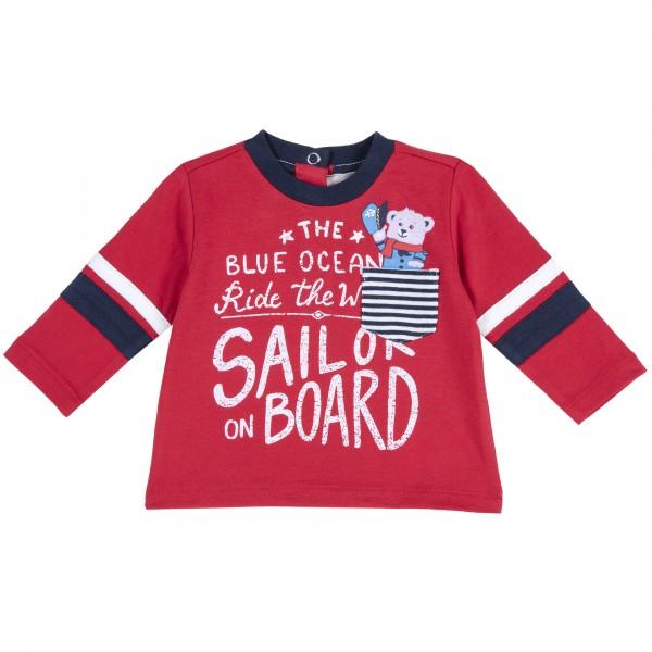 Βρεφικό μπλουζάκι αγορίστικο από την Chicco σε κόκκινο χρώμα