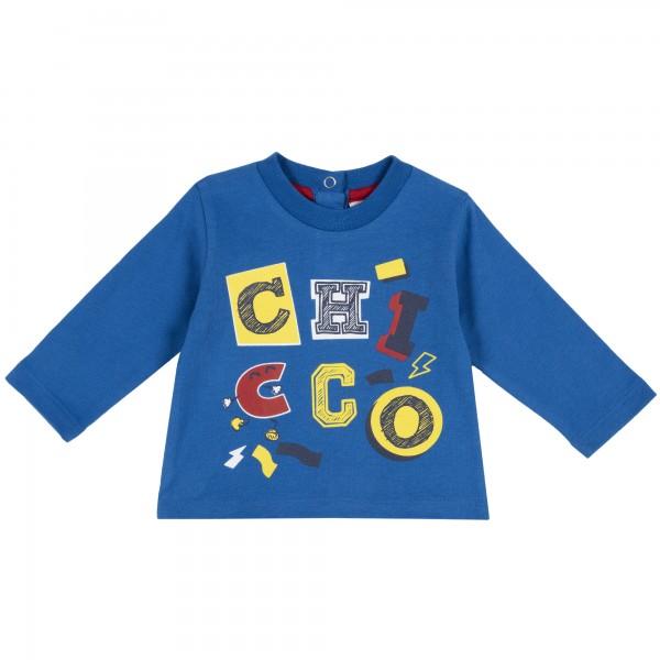 Μπλουζάκι αγορίστικο μπλε με στάμπα από την Chicco
