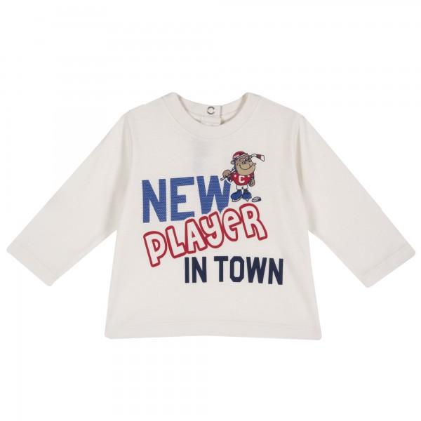Μπλουζάκι αγορίστικο λευκό με στάμπα από την Chicco