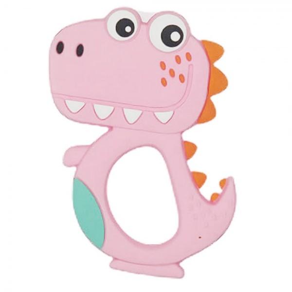 Μασητικό οδοντοφυΐας  ροζ δεινόσαυρος 3+ μηνών