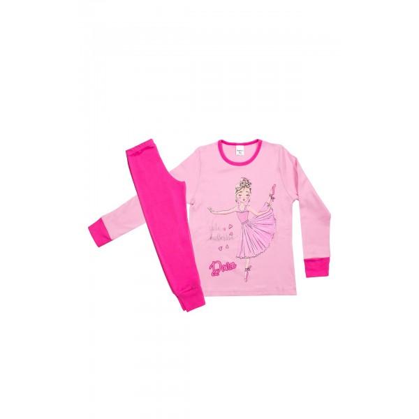 Πιζάμα κοριτσίστικη ροζ μπαλαρίνα από την Pretty Baby