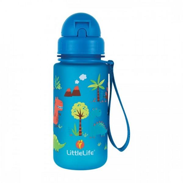 Παγούρι Μπλε 400 ml με Καλαμάκι Water Bottle Dinosaurs| LITTLELIFE