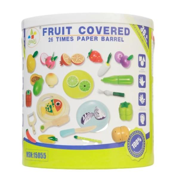 26 τμχ Ξύλινα Φρούτα- 3+ ετών