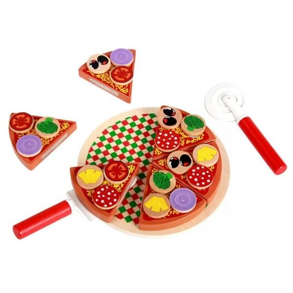 Ξύλινο σετ πίτσας με δίσκο- 3+ ετών