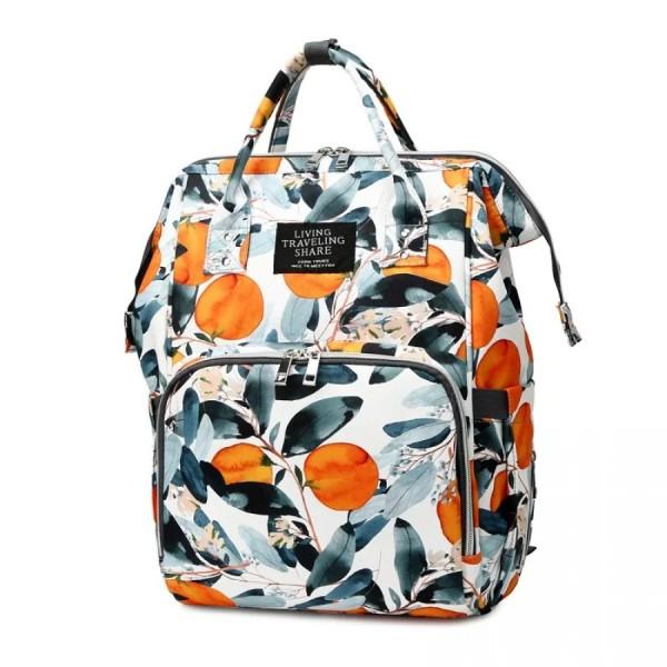 Τσάντα πλάτης μωρού λευκή με σχέδιο Orange Tree L.T.S.
