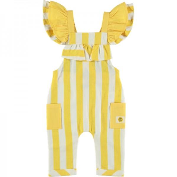 Ολόσωμη φόρμα κοριτσίστικη λευκό- κίτρινο ριγέ