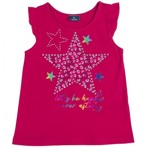 Μπλουζάκι ροζ αμάνικο με σχέδιο αστέρι από την Chicco