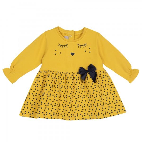 Φόρεμα κίτρινο πουά από την Chicco