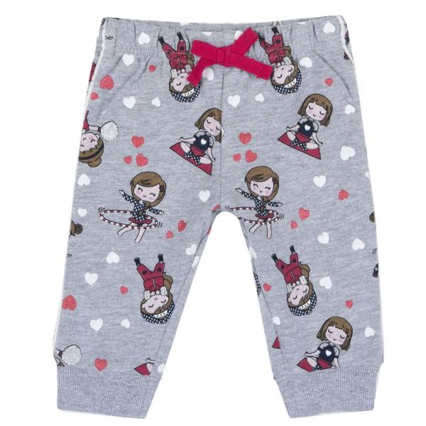 Παντελόνι φόρμας κοριτσίστικο γκρι με σχέδια κοριτσάκια από την Chicco
