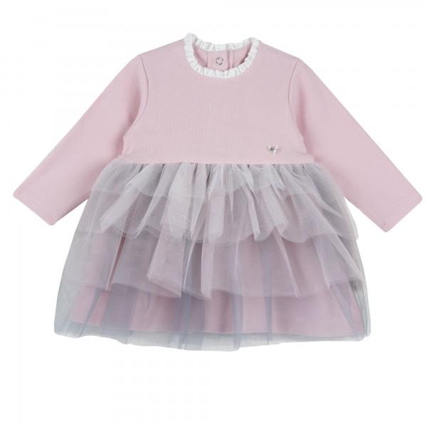 Φόρεμα ροζ με γκρι τούλι από την Chicco
