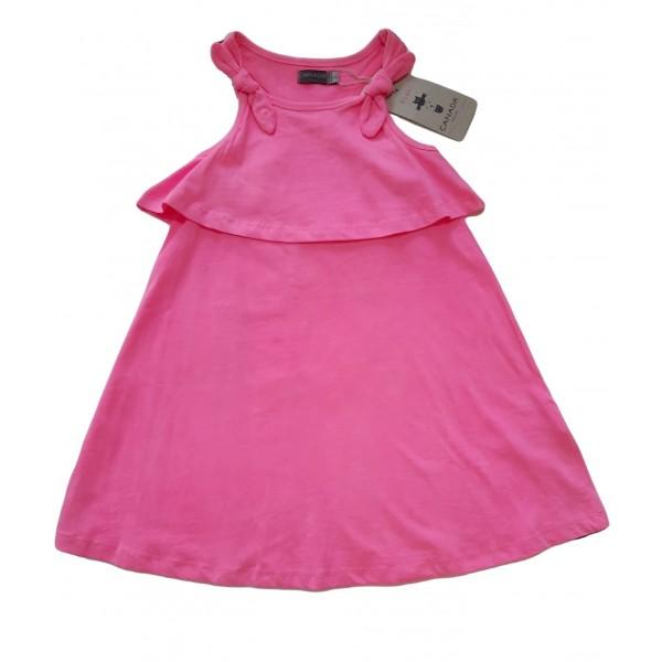 Αμάνικο ροζ φόρεμα