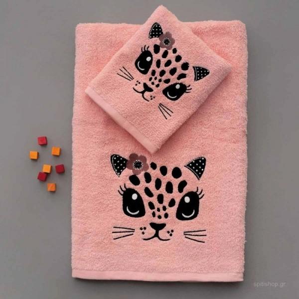Σετ Πετσέτες Kids Bath FOXY Ροζ