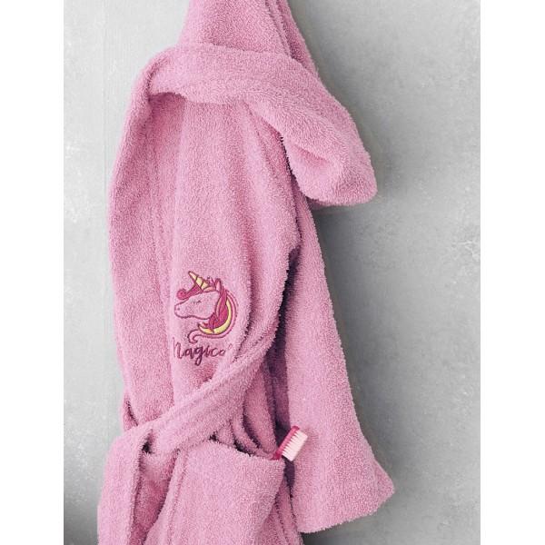 Μπουρνούζι Kids Bath MAGICAL Ροζ