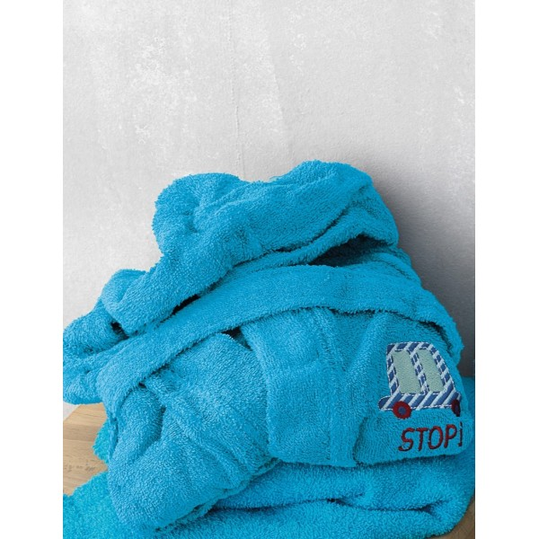 Μπουρνούζι Kids Bath STOP Μπλε