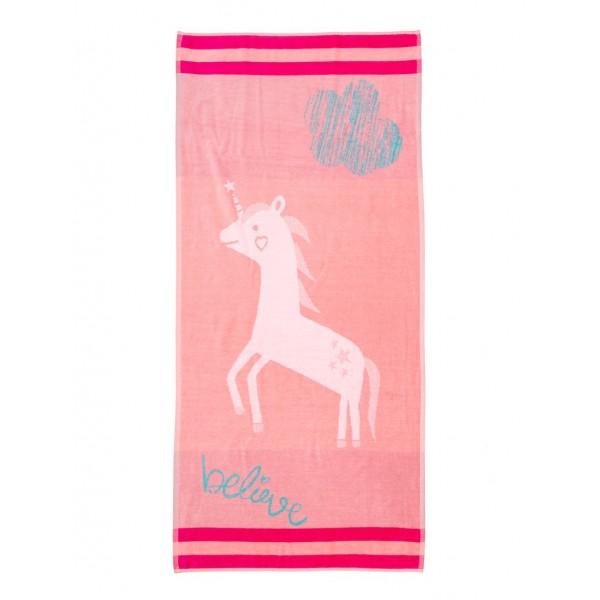 Πετσέτα Θαλάσσης Ροζ Μονόκερος Beach Collection 70x140 NV5