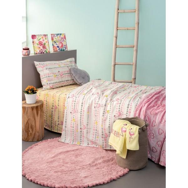 Σετ Σεντόνια Trend Collection 160x260 TC930 Ροζ