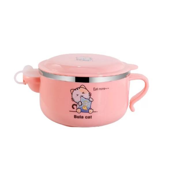 Μπολ φαγητού ροζ 450 ml για παιδιά 6+ μηνών