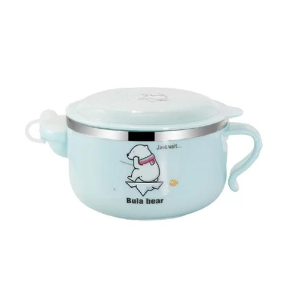Μπολ φαγητού γαλάζιο 450 ml για παιδιά 6+ μηνών