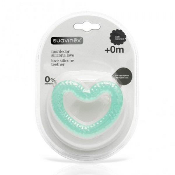 Suavinex μασητικό οδοντοφυΐας Love γαλάζιο
