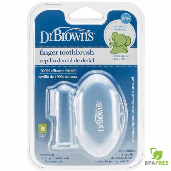 Βρεφική Δακτυλική Οδοντόβουρτσα Σιλικόνης Dr.Brown's