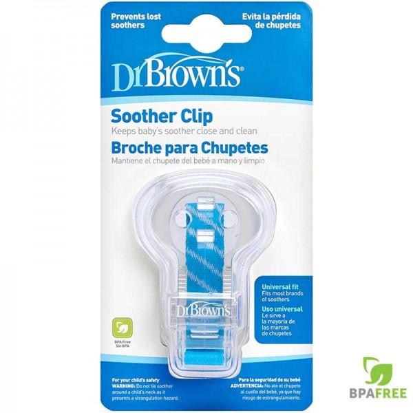 Κλίπ πιπίλας με κορδέλα μπλέ Dr.Brown's