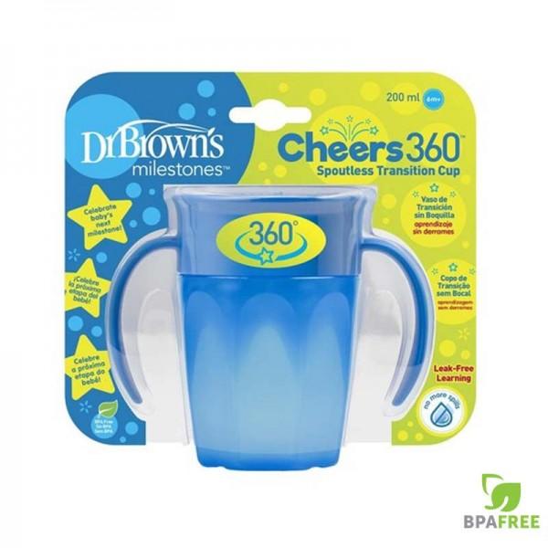 Κύπελλο 360 με Λαβές Μπλε 200ml 1Τμχ Dr.Brown's