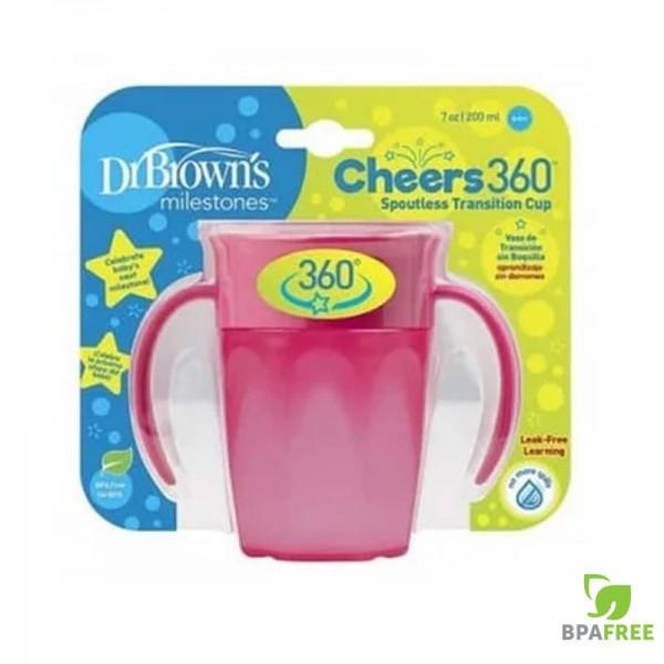 Κύπελλο 360 με Λαβές Ροζ 200ml 1Τμχ Dr.Brown's