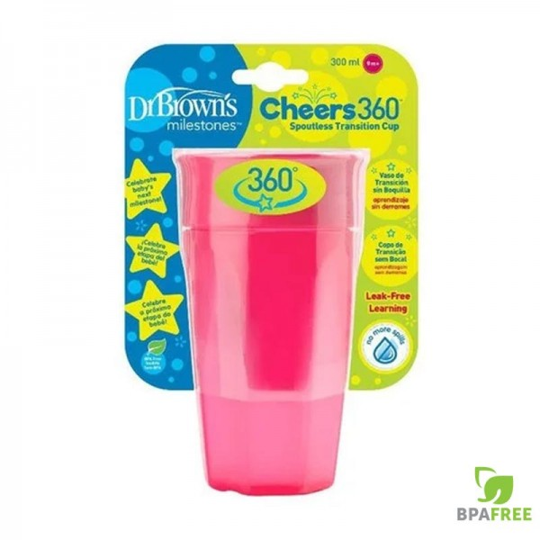 Κύπελλο 360 Ροζ 300ml 1Τμχ Dr'Brown's