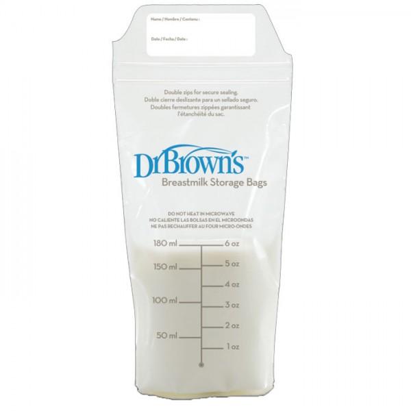 Σακουλάκια φύλαξης μητρικού γάλακτος Dr Brown's