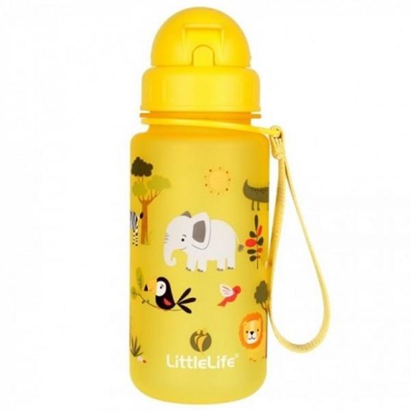 Παγούρι Κίτρινο 400 ml με Καλαμάκι Water Bottle Safari | LITTLELIFE