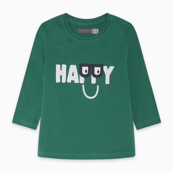 Μπλουζάκι αγορίστικο πράσινο με στάμπα