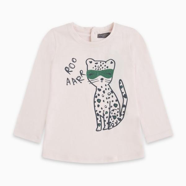 Μπλουζάκι γατούλα κοριτσίστικο σε απαλό ροζ χρώμα