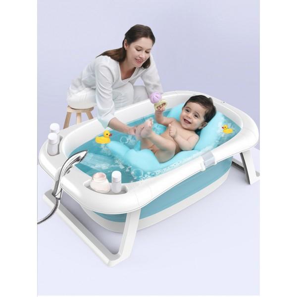 Μπανιέρα μωρού με ψηφιακή ένδειξη θερμοκρασίας σε μπλε χρώμα