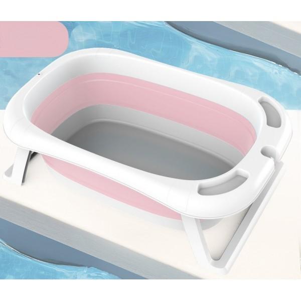 Μπανιέρα μωρού με ψηφιακή ένδειξη θερμοκρασίας σε ροζ χρώμα