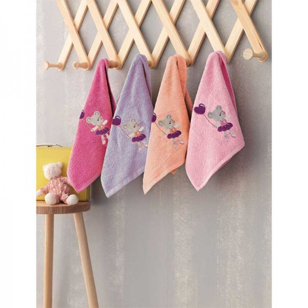Σετ Πετσέτες Baby Kids Bath BALLARINA 40x60 4 Τεμ.