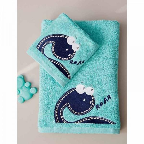 Σετ Πετσέτες Γαλάζιες Kids Bath DINOSAURUS