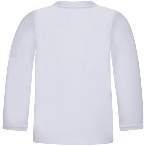 Μπλούζα αγοριού με μακρύ μανίκι λευκή με στάμπα γάτα | Canada House