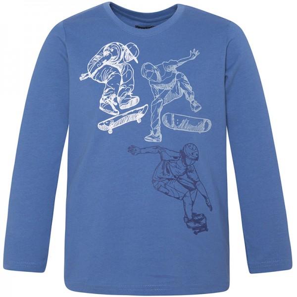 Μπλούζα αγοριού με μακρύ μανίκι μπλέ με στάμπα skaters   Canada House