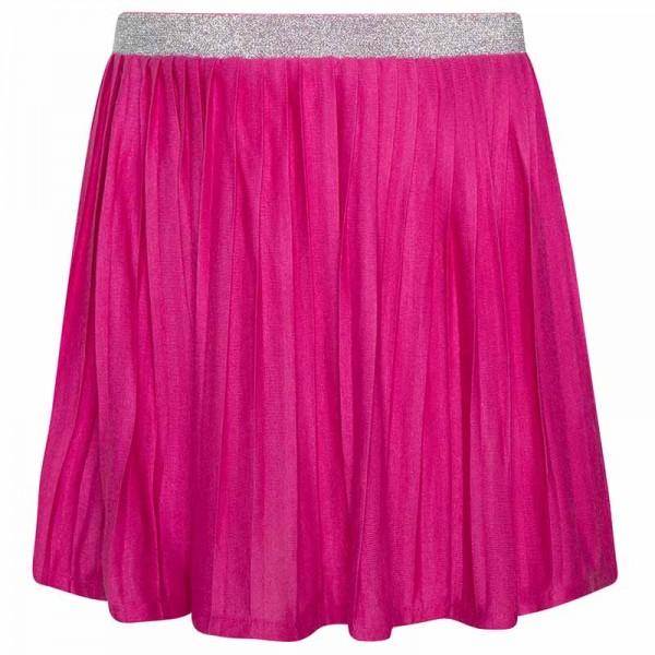 Ροζ φούστα με λάστιχο από στρας