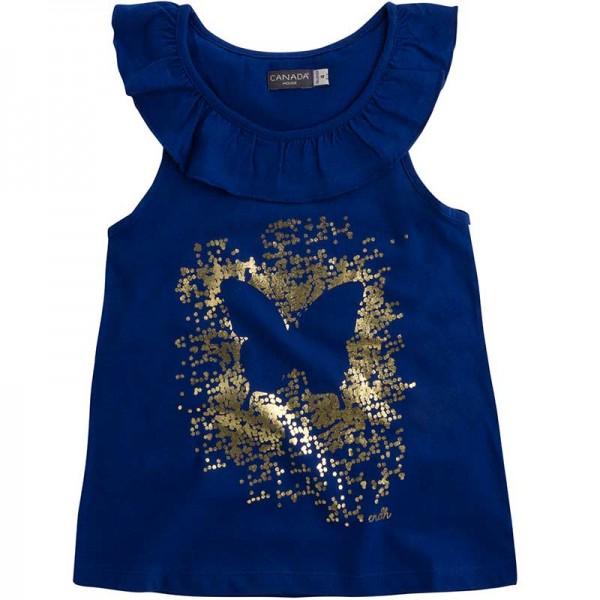 Μπλε μπλουζάκι κοριτσίστικο με χρυσό σχέδιο από την Canada House