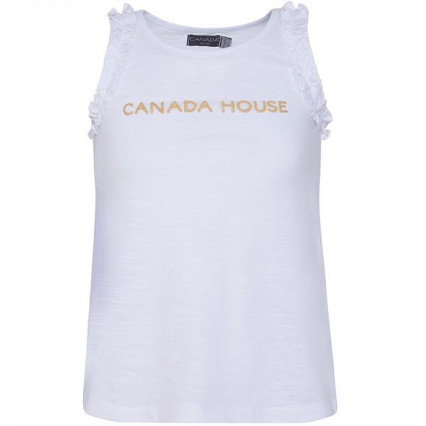 Μπλουζάκι λευκό κοριτσίστικο Canada House