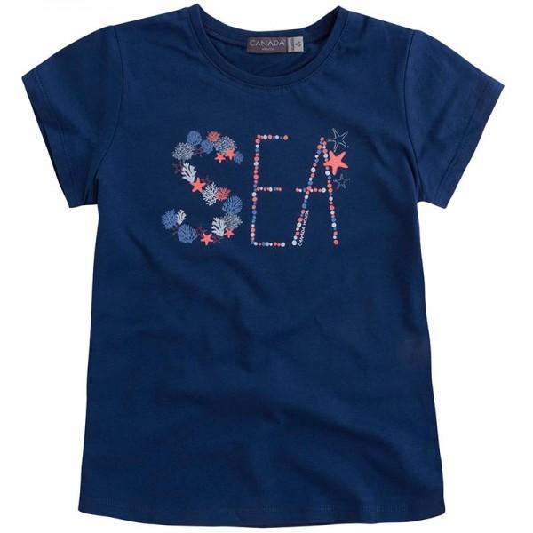 Μπλε μπλουζάκι κοριτσίστικο με στάμπα από την Canada House