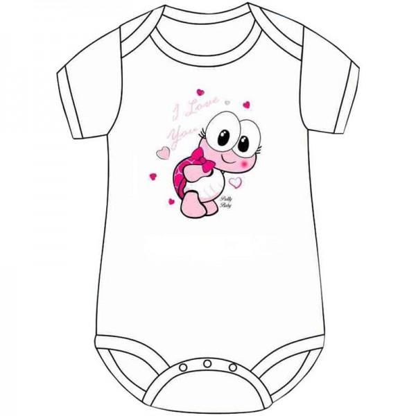 Φανελάκι βρεφικό κοριτσιού λευκό με σχέδιο χελωνάκι Pretty Βaby
