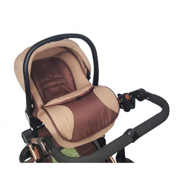 Καροτσάκι μωρού - Καφέ 3 σε 1