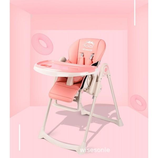 Κάθισμα φαγητού Wisesonle ροζ